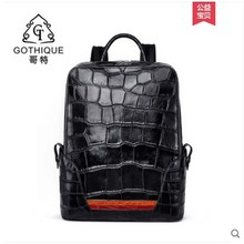 gete new arrival made of really bay crocodile  bay alligator Crocodylus porosus  Estuarine crocodile Men backpack цена