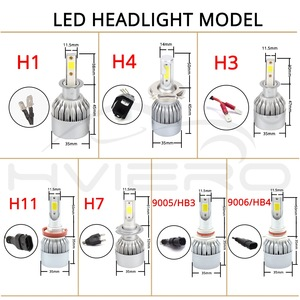 Image 2 - 2Pcs Led אוטומטי LED פנס נורות Hi Lo קרן 72W 7800LM 6500K IP65 אוטומטי פנס Led אורות DC 12v 24V נהיגה אורות הנורה led