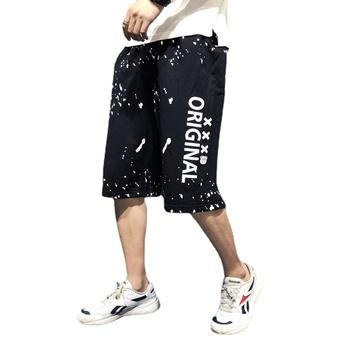 Ponadgabarytowe spodenki Cargo męskie spodenki męskie odzież męska odzież męskie spodenki spodenki męskie męskie spodenki męskie spodenki tanie i dobre opinie CHUNJUE Na zakupy Na co dzień COTTON CN (pochodzenie) Na wiosnę i lato szorty 802-592 Do kolan Elastyczny pas Drukuj Spódnico-spodenki