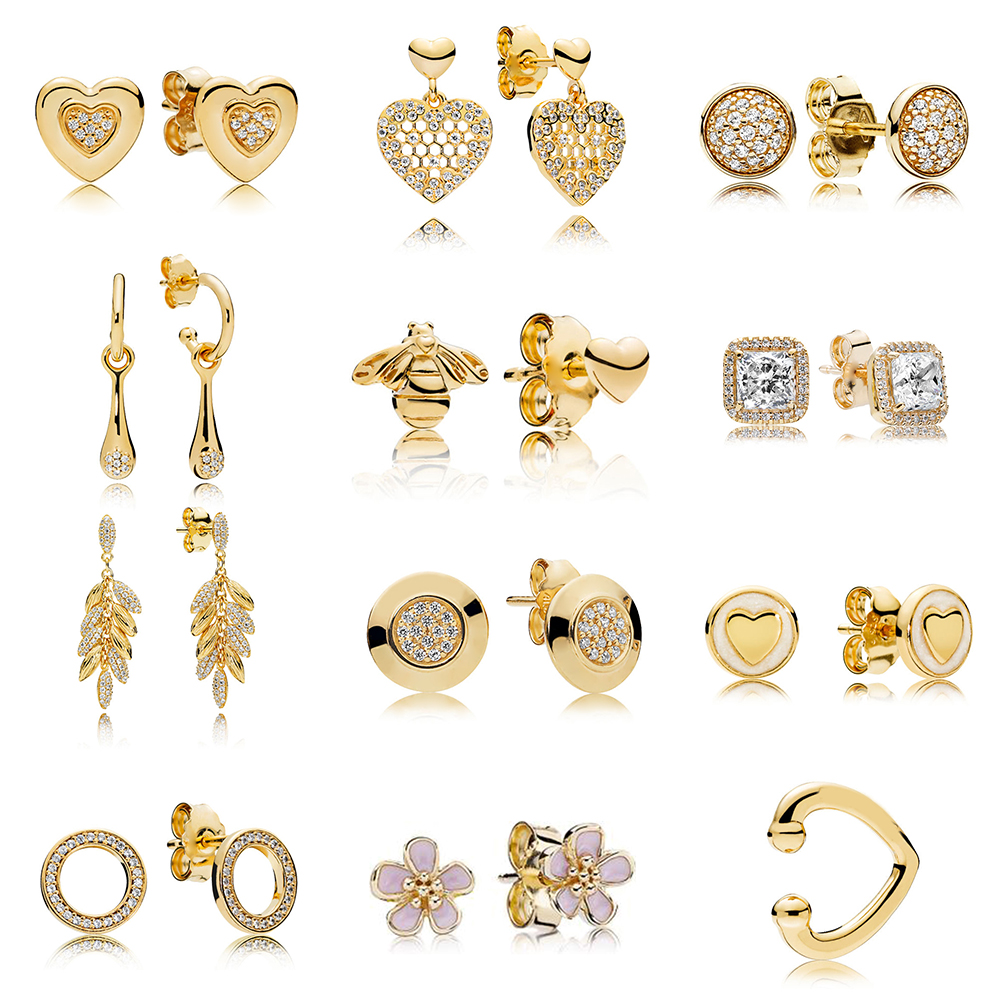 2019 Fashion 1:1 Shigh Quality Love Earrings And Feminine Luxury Jewelry With Bees And Honeycomb Lace
