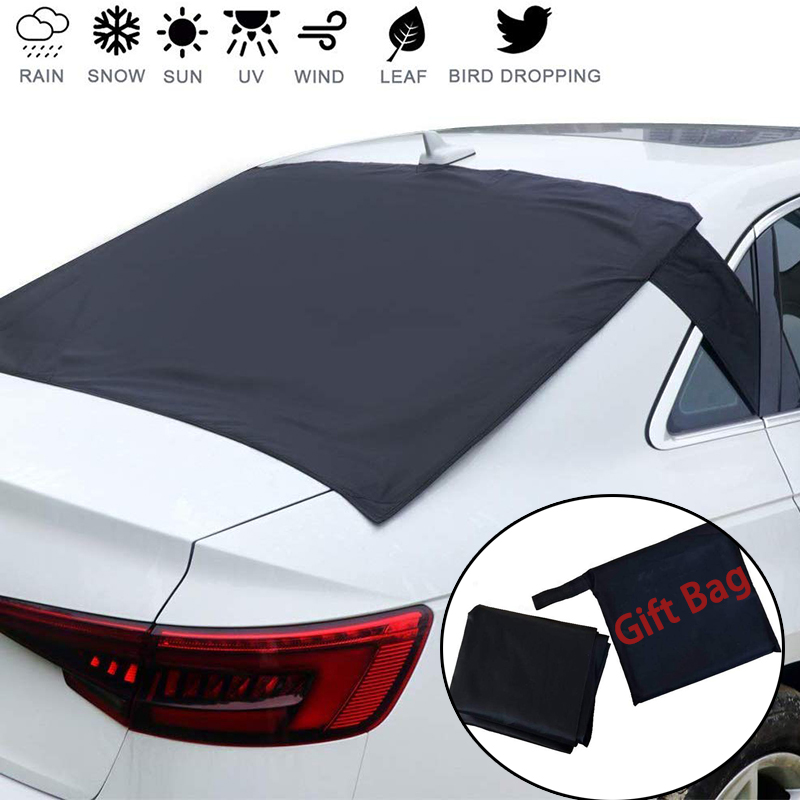 Universal Rear Windscreen Snow Cover Anti Dust Sun UV Windshield Snow Frost Covers For Vehicle Rear Windshield With Storage bag|Car Covers|   - title=