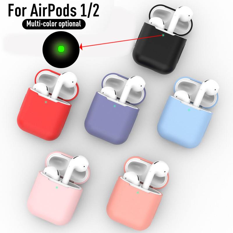 Silicone Airpod Cases For Airpods1 2nd Luxury Protective Earphone Cover Case For Apple Airpods Case 1&2 Shockproof Sleeve