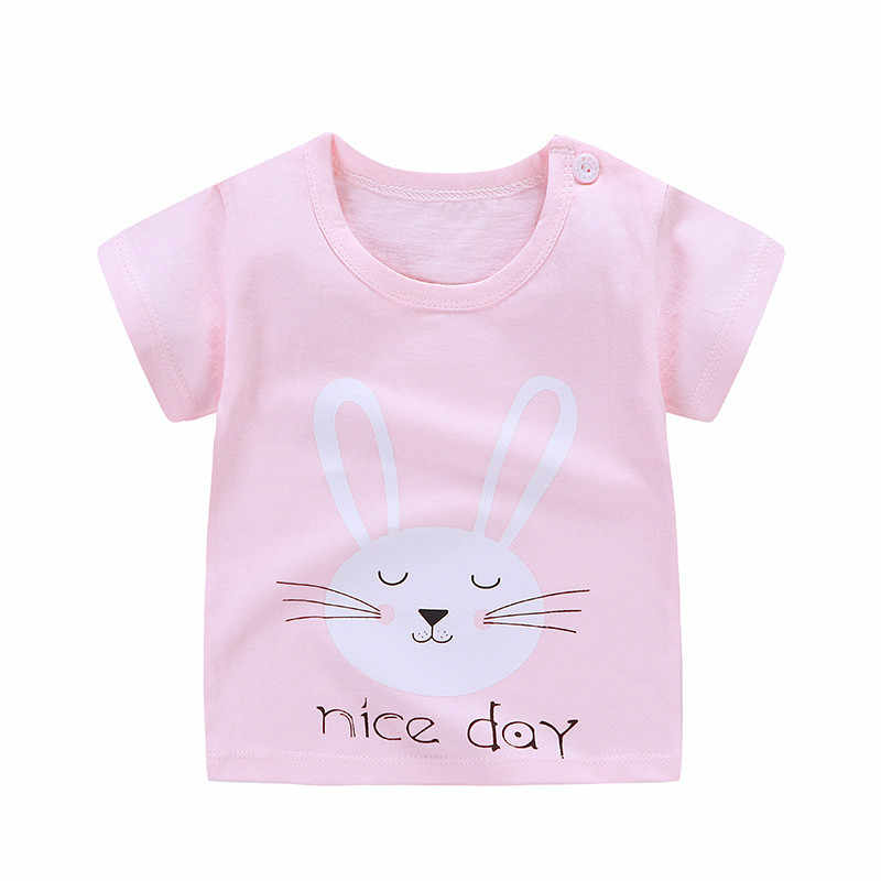 New 2019 Children T Shirts Cartoon Print Kids Baby Boy Tops Short Sleeve T-Shirt Summer Tee Toddler Girl Shirts Girls Top