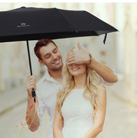 간단한 남성과 여성 비즈니스 우산 두꺼운 자외선 보호 우산 여행 휴대용 접는 파라솔