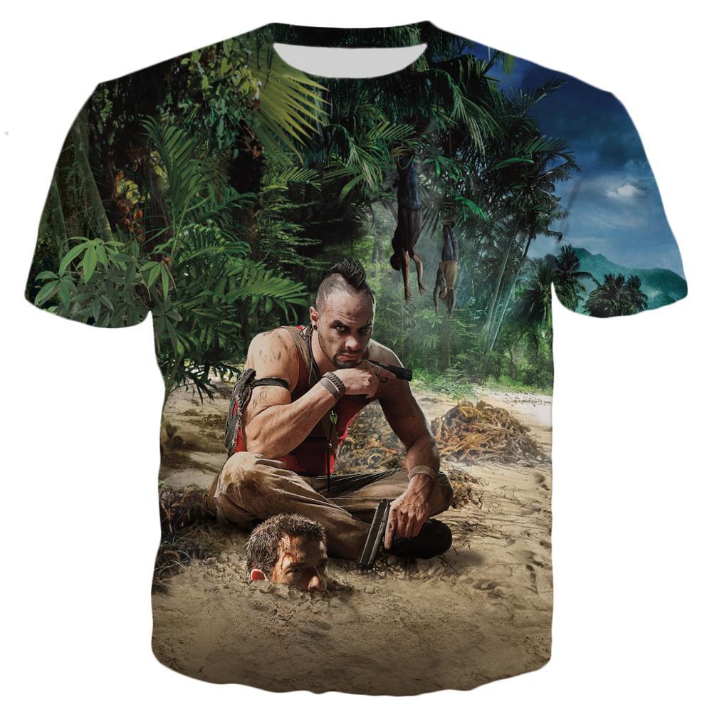 PLstar Cosmos Drop Shipping 2020 Summer New Style Fashion T-shirt Game Far Cry 3 Coast Men 3D Print Men's Women's Casual T Shirt