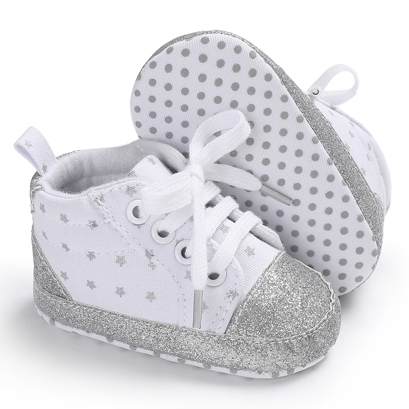 Toddler First Walkers Soft Newborn Sports Shoes Star Baby Cute Shoes Lovely Fashion For  Baby Moccasins