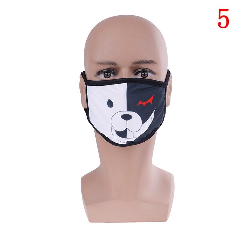 Маска для лица унисекс, хлопковая Пылезащитная маска для лица, маска для лица с рисунком медведя из аниме, женские и мужские Вечерние Маски для лица - Цвет: 5