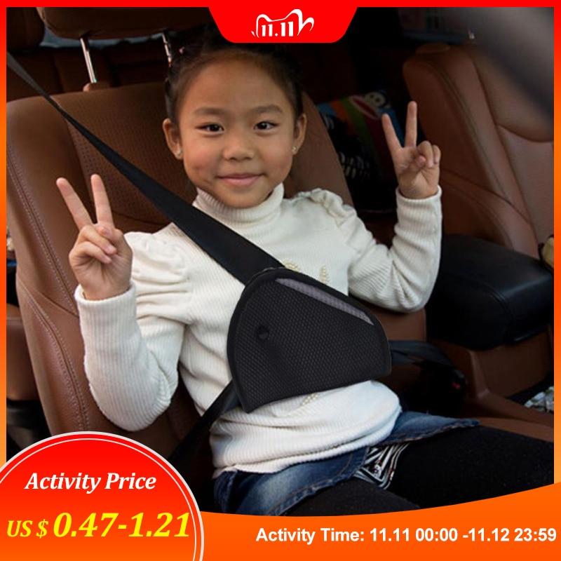 New Triangle Baby Kids Car Safe Fit Seat Belt Adjuster Device Auto Safety Belt Cover Child Neck Prot
