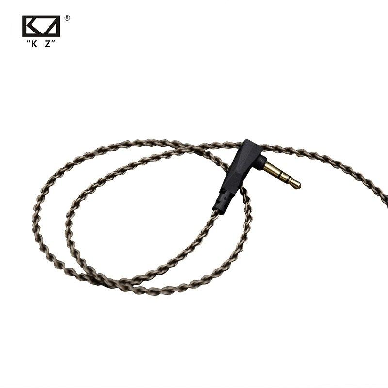 CCA Kz Zs3/zs4/zs5/zs6/zsa 1.2m pureté sans oxygène cuivre casque argent câble plaqué fil 0.75mm broche mise à niveau pour C10 C16