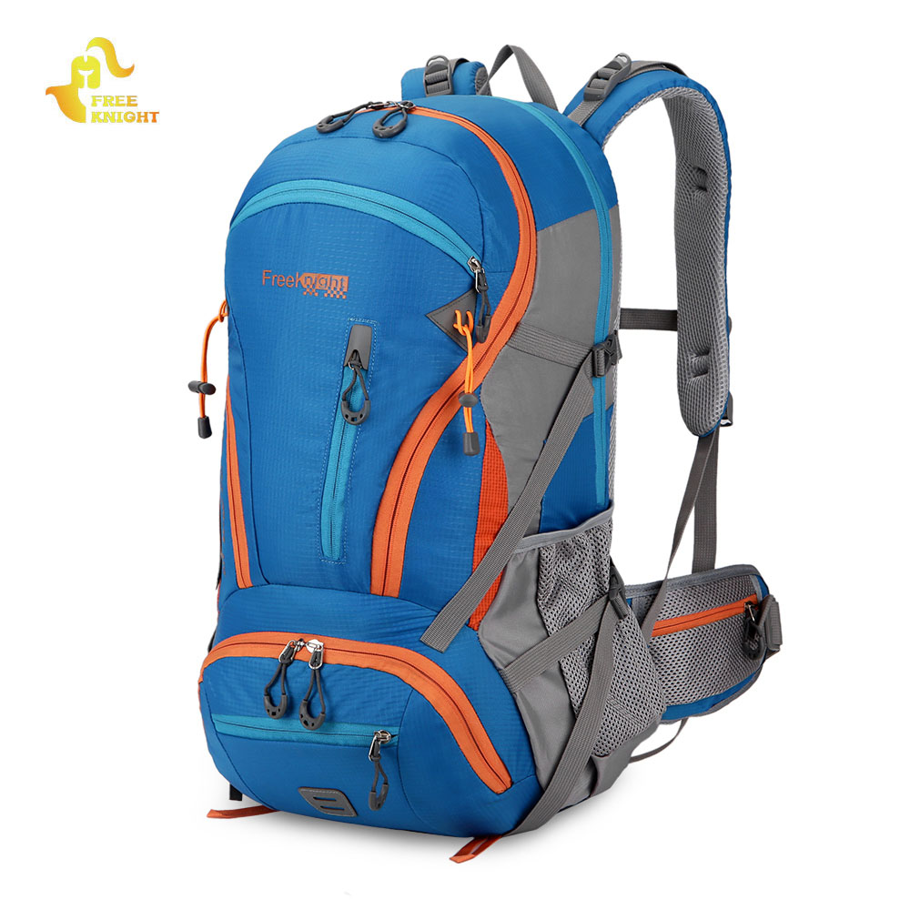 Free Knight 45L Climbing Hiking Backpack Waterproof Rucksack Camping Trekking Backpack Sport Bag (Only Green In Stock Now)
