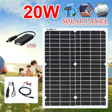 20w 18v Flexible Solar Panel home kit Portable Waterproof Charger 5v usb for phone 12V Car Battery Camping Hiking Outdoor Light