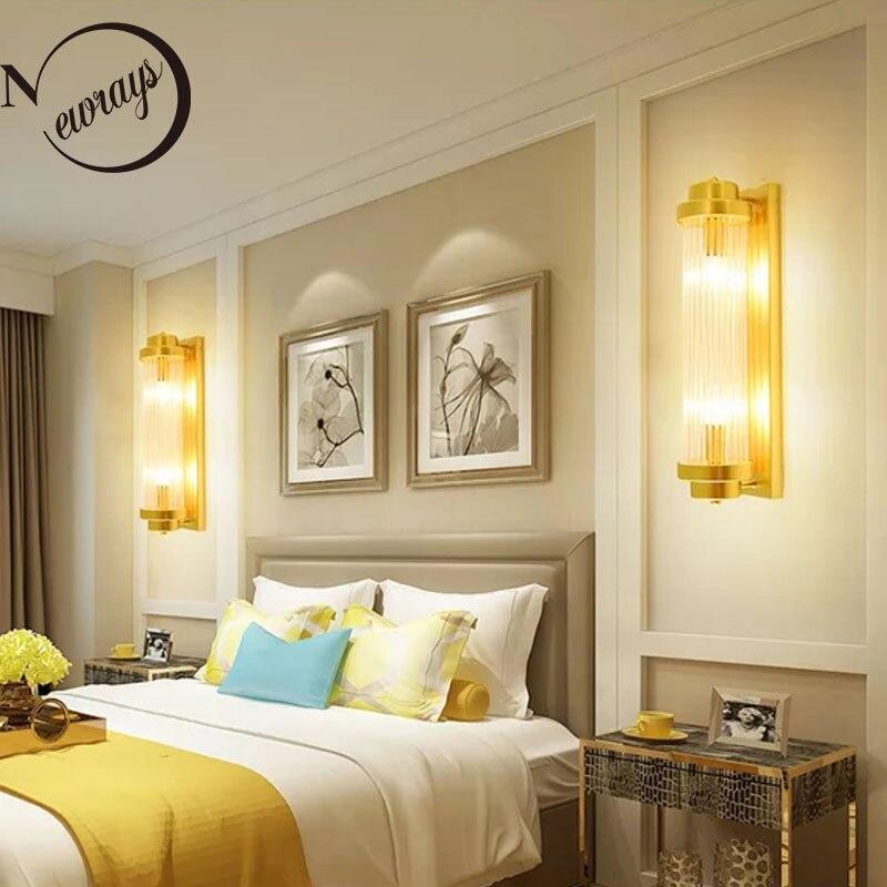 Современный настенный светильник золотистого цвета E14, простой вращающийся настенный светильник s для дома, спальни, прикроватный светильн