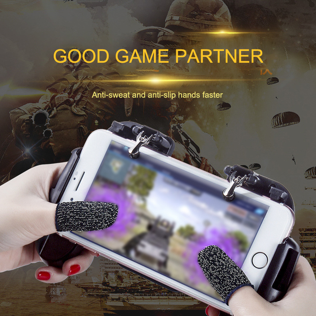 1 Pair L1 R1 Breathable Mobile Game Controller Finger Sleeve Touch 2