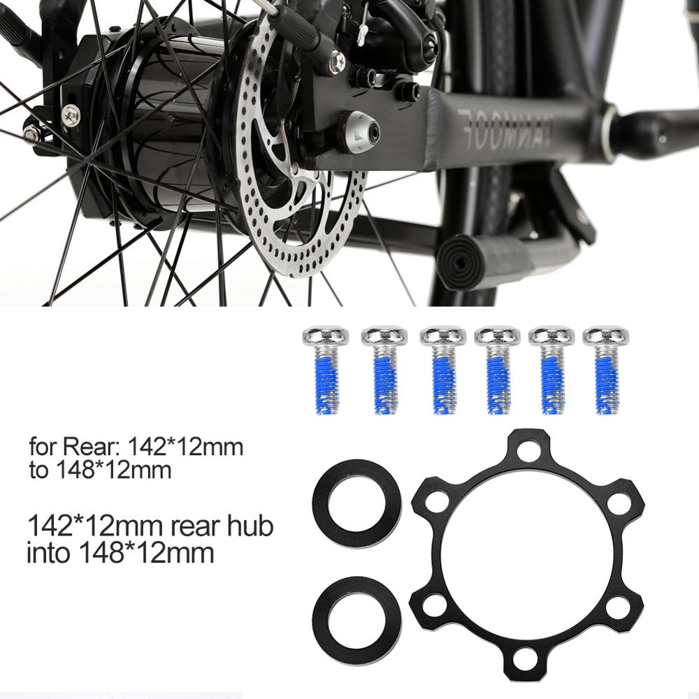 Alloy Cycling Bike Bicycle Boost Hubs 142MM to 148MM Conversion Kit Rear Hub Adapter Conversion 110MM Front Hub Bicycle Hubs