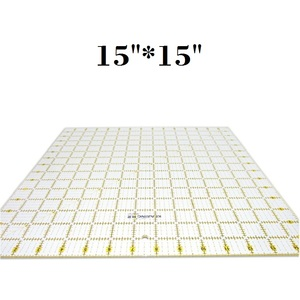 "Image 2 - 15*15"" Patchwork Ruler Quilting Tools DIY Hand Tool Clear Acrylic Quilt Ruler Large Square Sewing Ruler 3mm Thickness"