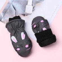 Winter Warm Gloves 0-5 Years Old Children Ski Gloves Thick V