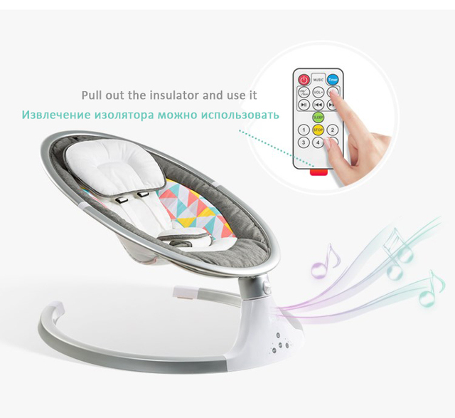 High Quality Newborn Baby Sleeping Swing Bouncer Rocking Soothing Electric Cradle Bluetooth Rocker Chair With Seat Cushion 3