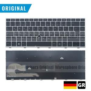 Image 1 - חדש מקורי GR מקלדת עם תאורה אחורית עבור HP EliteBook 840 G5 עם עכבר נקודת גרמנית פריסה