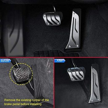 Stainless Steel Pedal Gas Accelerator Brake Pedal for BMW 1 2 3 4 5 6 7 Series X3(F25/G01) X4 X5(F15/G05) X6(F16) F30 G20 G30 car styling refit accelerator oil footrest pedal plate clutch throttle brake treadle for bmw 5 5gt 6 7 series x3 x4 x5 x6 z4 lhd