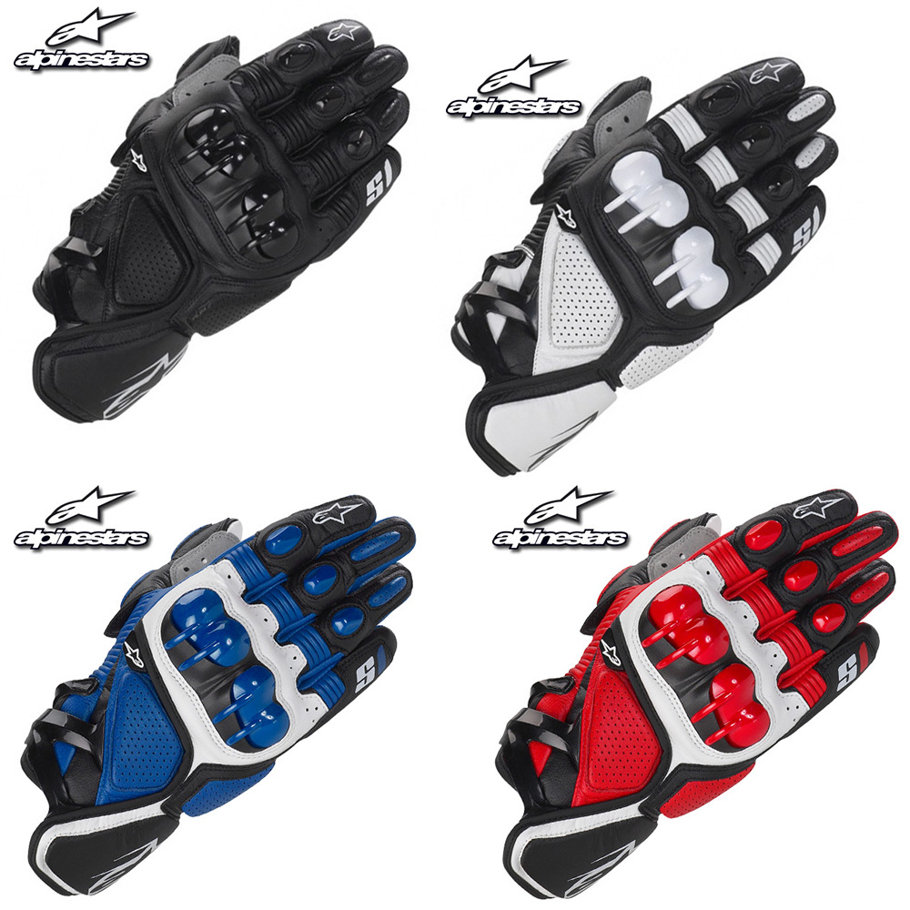 S1 Short Gloves Knight Locomotive Motorcycle Gloves Hide Substance Hard Case Cycling Gloves Shatter-resistant Anti-slip