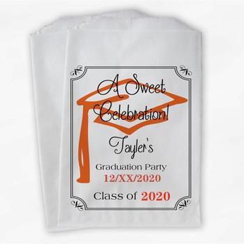 Niestandardowe torby Graduation Favor-2020 słodka impreza okolicznościowa torby Favor-czarne i pomarańczowe torby na prezent papierowy tanie i dobre opinie CN (pochodzenie) 50pcs papier kraft Wąsy Szewron NONE Zwierzę rysunkowe Chłopiec i Dziewczynka Zwierząt kreskówkowy samochód