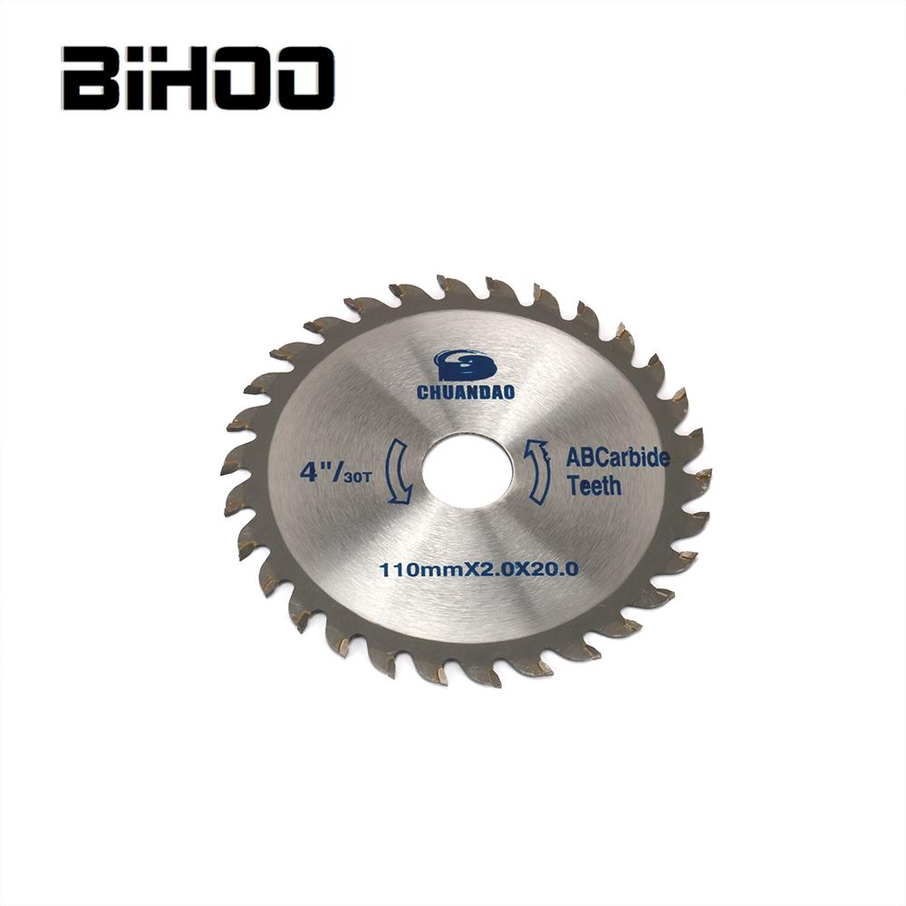 110mm Carbide Circular Saw Blade Bore 20mm Cutting Disc For Wood Cutting 30/40T Thickness 2mm