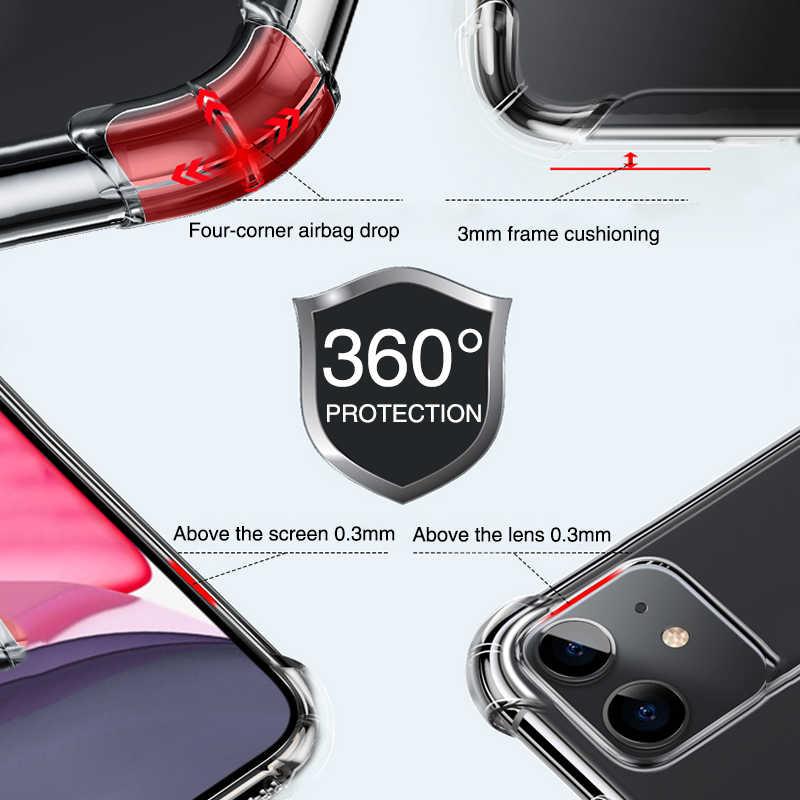 Роскошный прозрачный противоударный чехол для iPhone 11 Pro X Xr Xs Max, мягкий силиконовый чехол из ТПУ для iPhone 6, 6s, 7, 8 Plus, 5, 5S, SE, задняя крышка