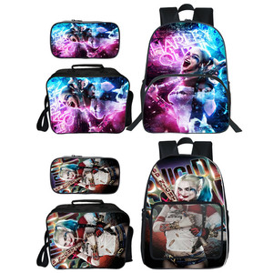 Женский школьный рюкзак Harley Quinn, 3 шт./компл., с принтом отряда самоубийц
