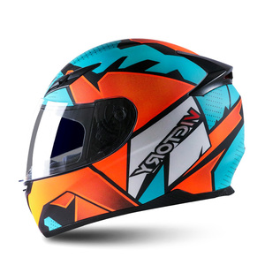 Image 2 - Smart Moto rcycle Helm LED licht Professionelle Volle Gesicht casco moto Racing Helm DOT Off Road Moto cross Helm Accessrioes