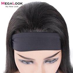 Полный парик фабричного производства 130 150 плотности парик с головной повязкой человеческие волосы парик из натуральных удобен в носке браз...