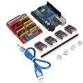 Щит с ЧПУ Плата расширения + R3 плата + 4 X DRV8825 Драйвер + USB кабель комплект для Arduino 3d принтер