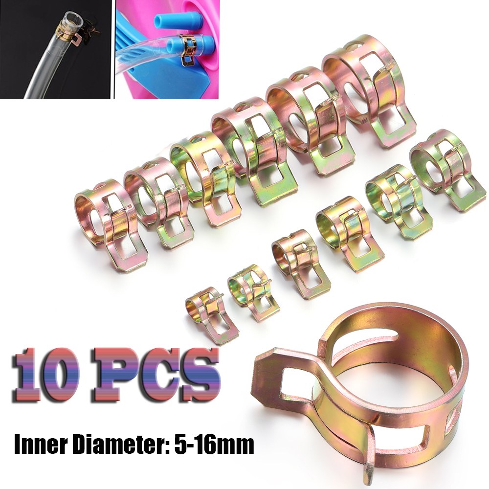 5-16mm Car & Truck Spring Clips Fuel Oil Water Hose Clip Pipe Tube Clamp Fastener Cooling Systems Parts Accessories 10Pcs/Lot(China)