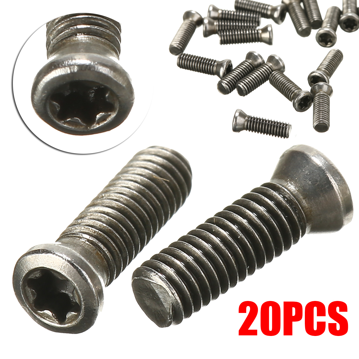 20Pcs <font><b>M3x10mm</b></font> CNC Insert Torx Screw For Replaces Carbide Inserts CNC Lathe Tool Blade Cutter Tool image