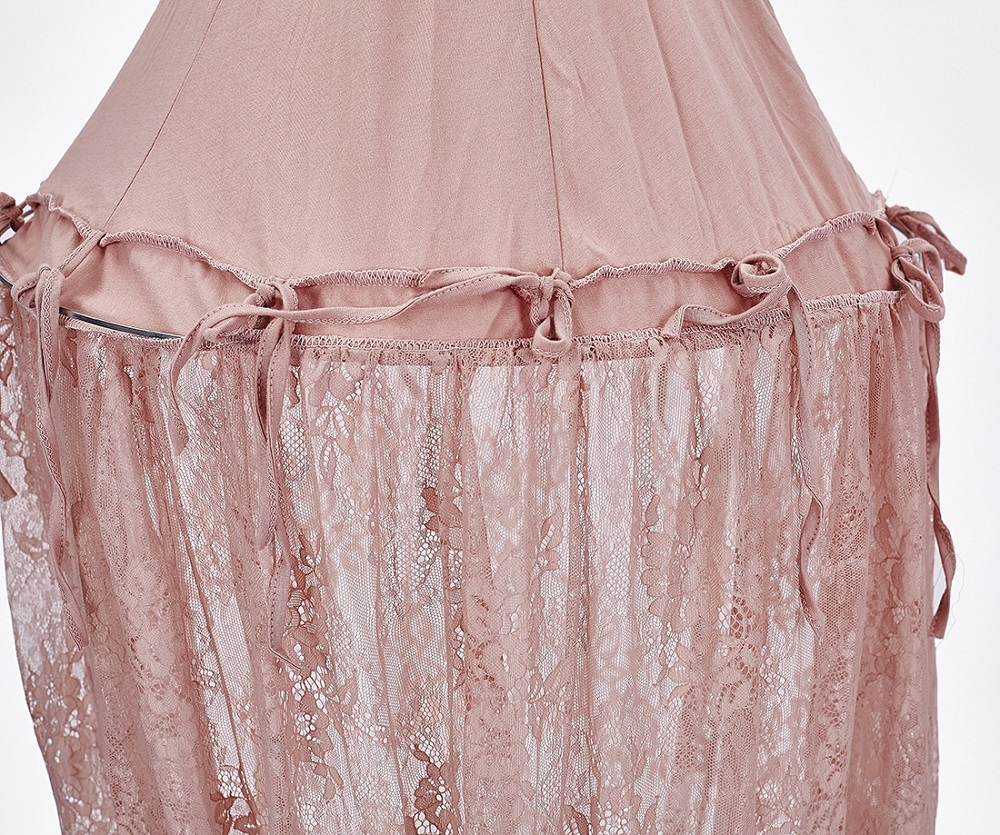 INS Mosquito Net Tent for Baby Bed Crib Canopy Pink Lace Tulle Bed Curtains for Bedroom Play Tent for Girl House Fairytale Decor