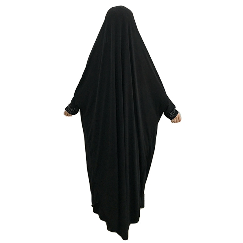 Muslim Women Maxi Prayer Abaya Hijab Overhead Full Cover Dress Robes Kaftan Arab Islamic Bat Sleeve Burqa Khimar Niqab Jilbab