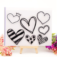 Clear Stamps for DIY Scrapbooking Card Love Heart Rubber Transparent Making Album paper Craft Decoration New 2019