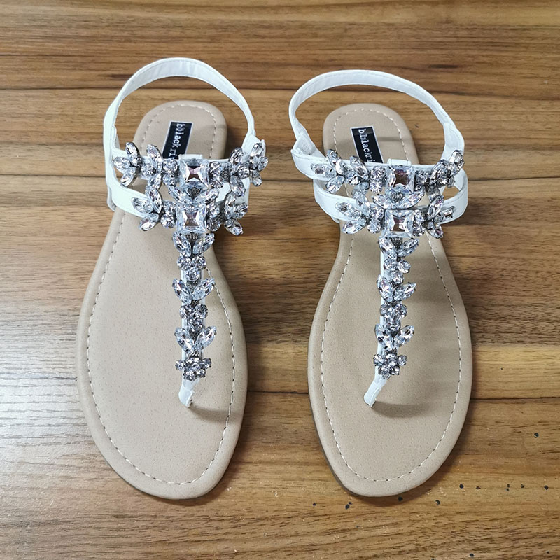 2020 Summer Fashion Women Sandals Rhinestone Decoration Simple And Comfortable Casual Buckle Woman Shoes Sandalias De Mujer