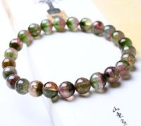 Afghanistan Watermelon Tourmaline Red And Green Tourmaline round Beads Bracelets Preserving 60 Days