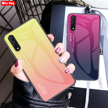 For Huawei Honor 9X Case 9 X Luxury Gradient Tempered Glass Phone Cases For Huawei Honor 9X Pro 9XPro Case Cover 9 X Pro Coque for honor 9 huawei honor 9 lite case full protection soft clear tpu silicone cases honor 9x crystal phone case honor 9 x cover