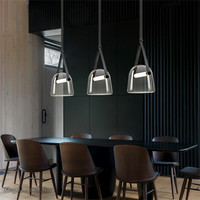 Post modern Glass Pendant Lights Mona Led Belt Hanging Lamp Living Room Kitchen Light Fixtures Home Decor Suspension Luminaire