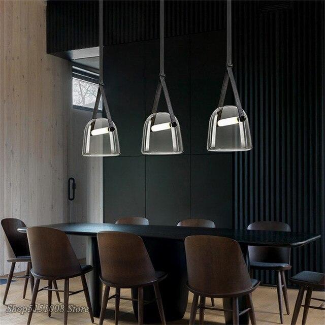 Post moderne Glas Anhänger Lichter Mona Led Gürtel Hängen Lampe Wohnzimmer Küche Leuchten Wohnkultur Suspension Leuchte