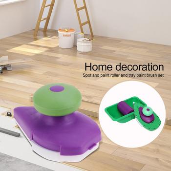 Wałek do farby gąbkowej taca pędzel do malowania ścian domowych DIY akcesoria do dekoracji ścian domowych akcesoria do domu tanie i dobre opinie