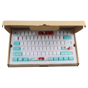 Image 4 - 108 Key Japan Japanese root font Keycaps Dye Sublimation PBT OEM Coral Sea keycap For Ikbc Cherry MX Annie Mechanical Keyboard