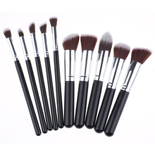 10pcs Makeup Brushes Set Professional Powder Foundation Eyeshadow Brushes Cosmetics Make Up Blending Brush Kit Pincel Maquiagem professional 10pcs white silver jessup brand makeup brushes set beauty foundation kabuki brush cosmetics make up brushes kit