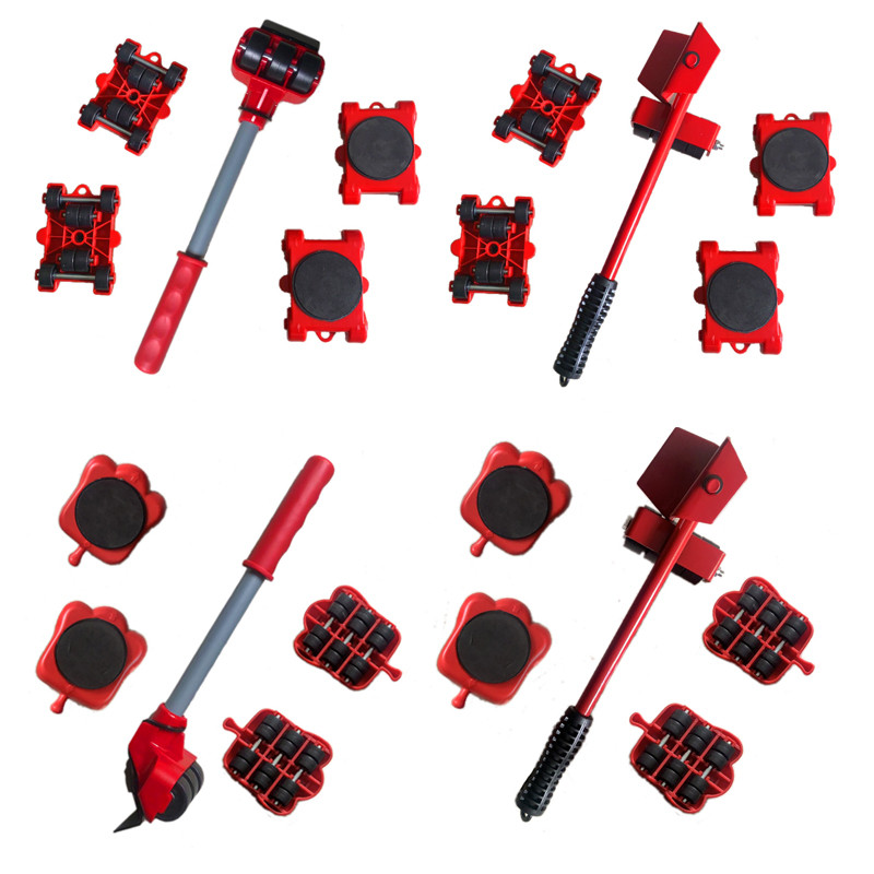 5Pcs Furniture Lifter Sliders Kit Profession Heavy Furniture Roller Move Tool Set Wheel Bar Mover Device  Up for 100Kg/220Lbs-3