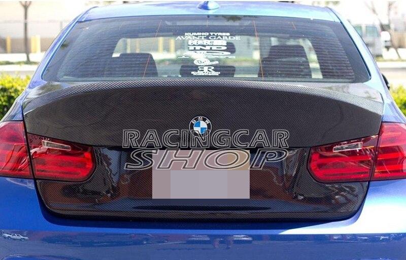 CSL estilo 3K Real fibra de carbono maletero trasero para BMW 3-Series F30 Sedan 2012UP B174