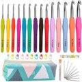 1 полный набор «сделай сам» вязальные крючки разных размеров иголки, швы, вязание, рукоделие, чехол, набор «сделай сам», инструменты для плет...