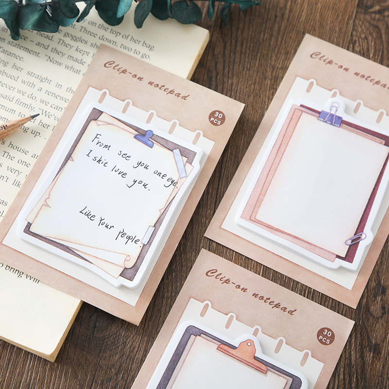 Mohamm 30PCS Memo Pad Japanese Stationery Creative Vintage Note Book Message Diary Stationary Scrapbook Decorative