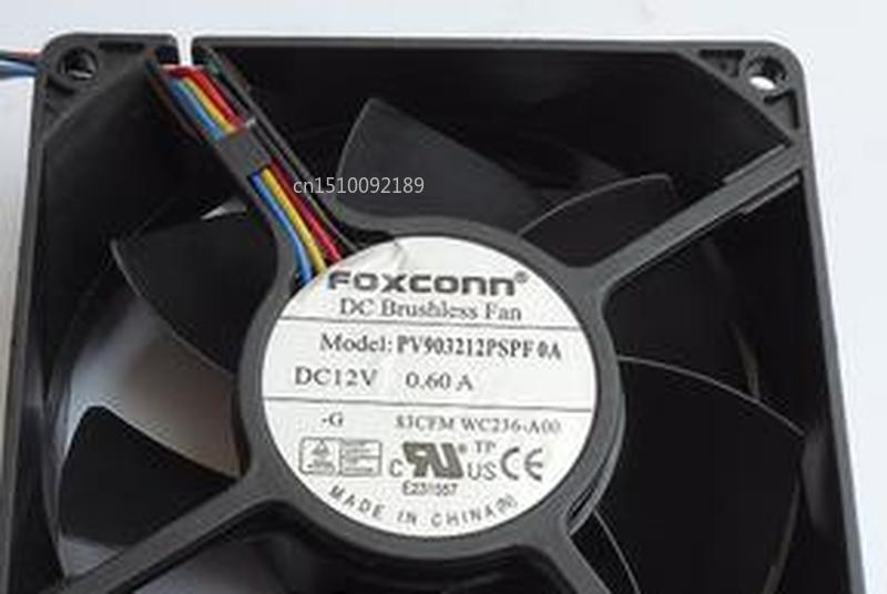 For  9032 12V0.60A PV903212PSPF0A Mute 4-wire PWM Temperature Control Chassis Cooling Fan Free Shipping
