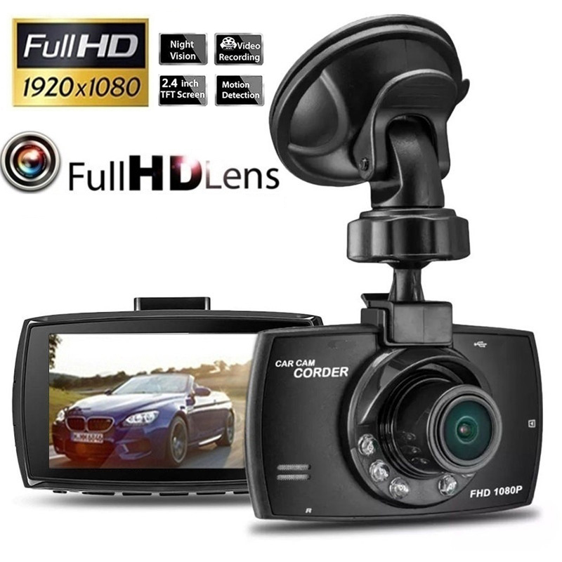 Car DVR Dash Camera Driving Recorder Cycle Recording Night Vision Security Motion Detection Wide Angle Dashcam Video Registrar